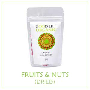 Fruits & nuts - dried, Sulphur-free