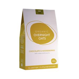 Overnight oats chocolate & gooseberries